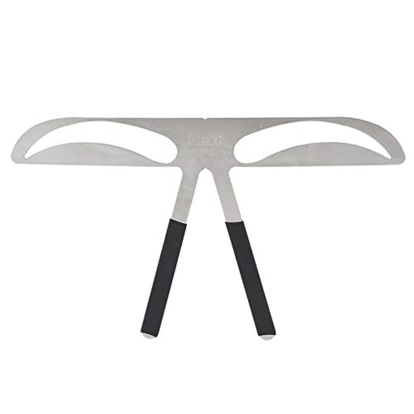 TOOGOO 眉のステンシルルーラー、眉のエンハンサー、恒久的な入れ墨の眉のツール #A