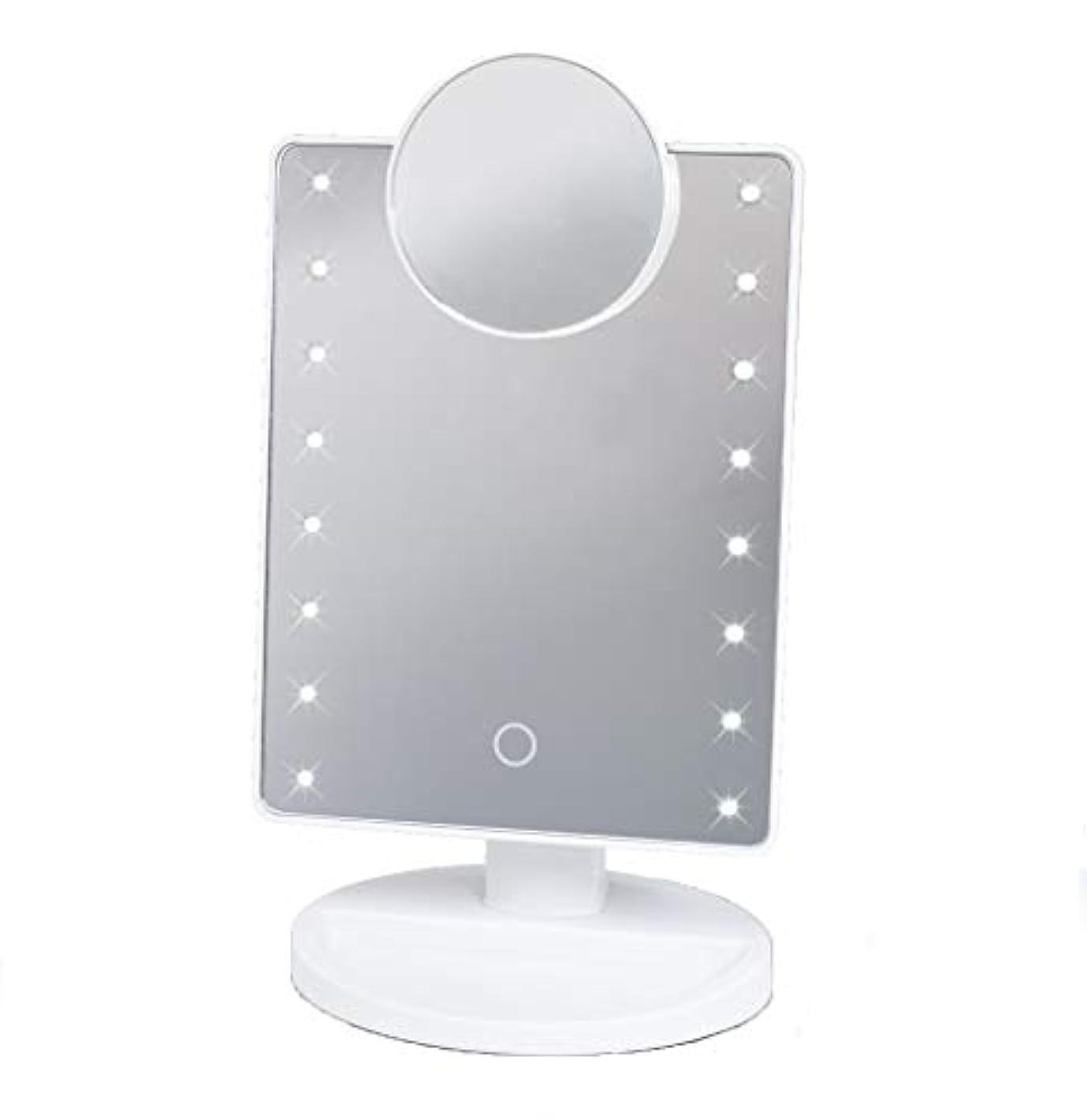 カニ日の出水曜日16LED拡大鏡付き メイクアップミラー HAC2053