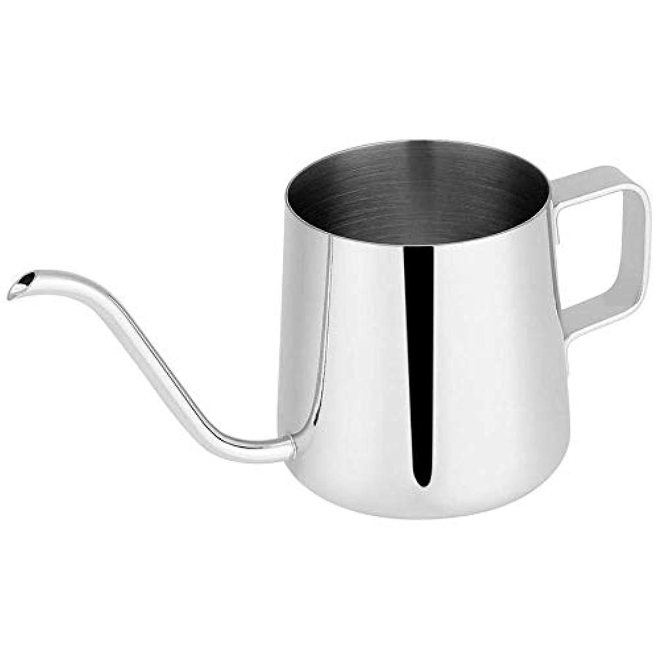 速報管理する電話するTYUIO 長い狭い口のコーヒーポット[小さい] - コーヒーメーカー、掛かる耳のコーヒーバッグの恋人のための滴り鍋の上の新しさ304のステンレス鋼の掛かる耳手の鈍い注ぎ口 (色 : シルバー しるば゜, サイズ さいず : 350mL)