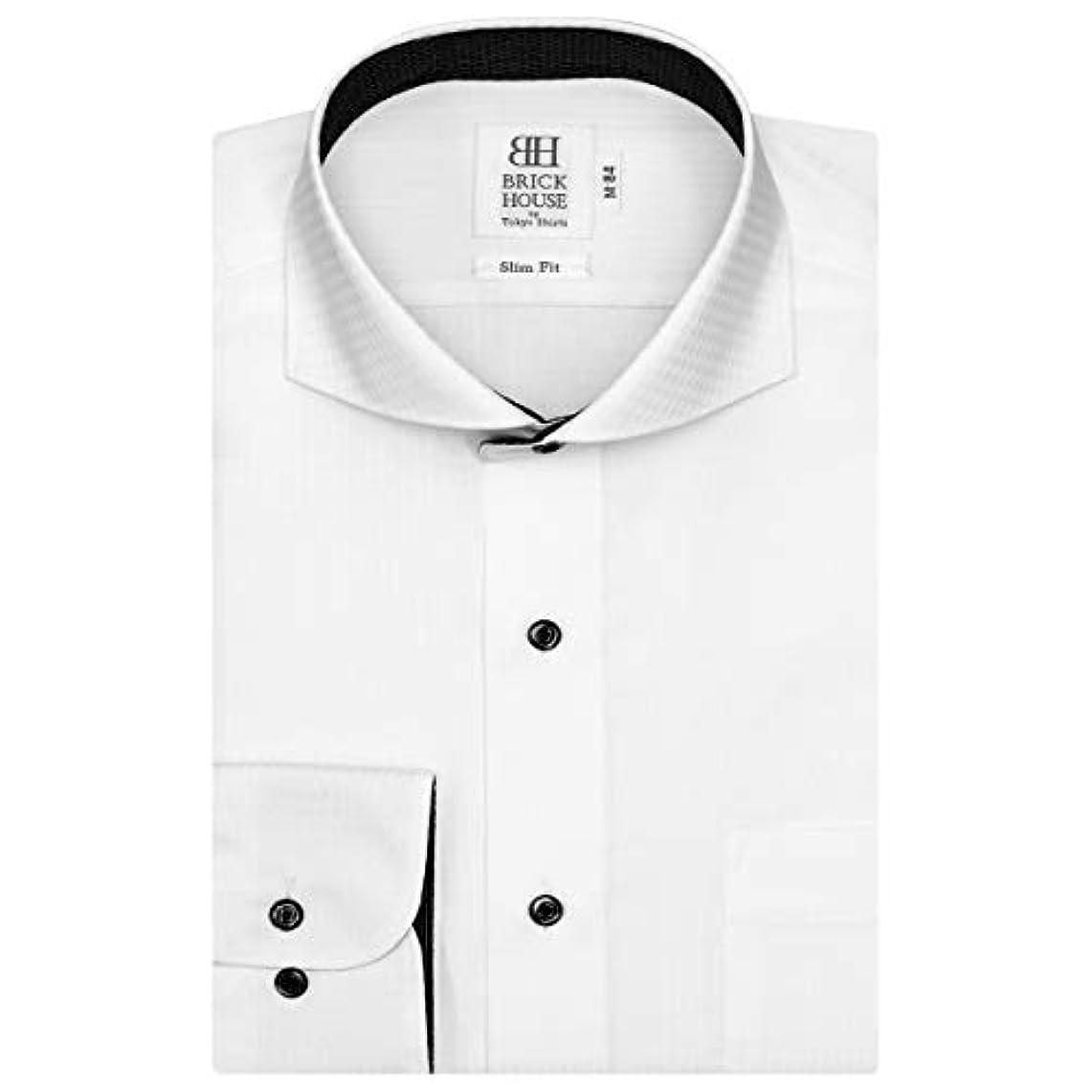 それからファックス建築家ブリックハウス ワイシャツ 長袖 形態安定 ホリゾンタル ワイド スリム メンズ BM018500AA11Z1A-90
