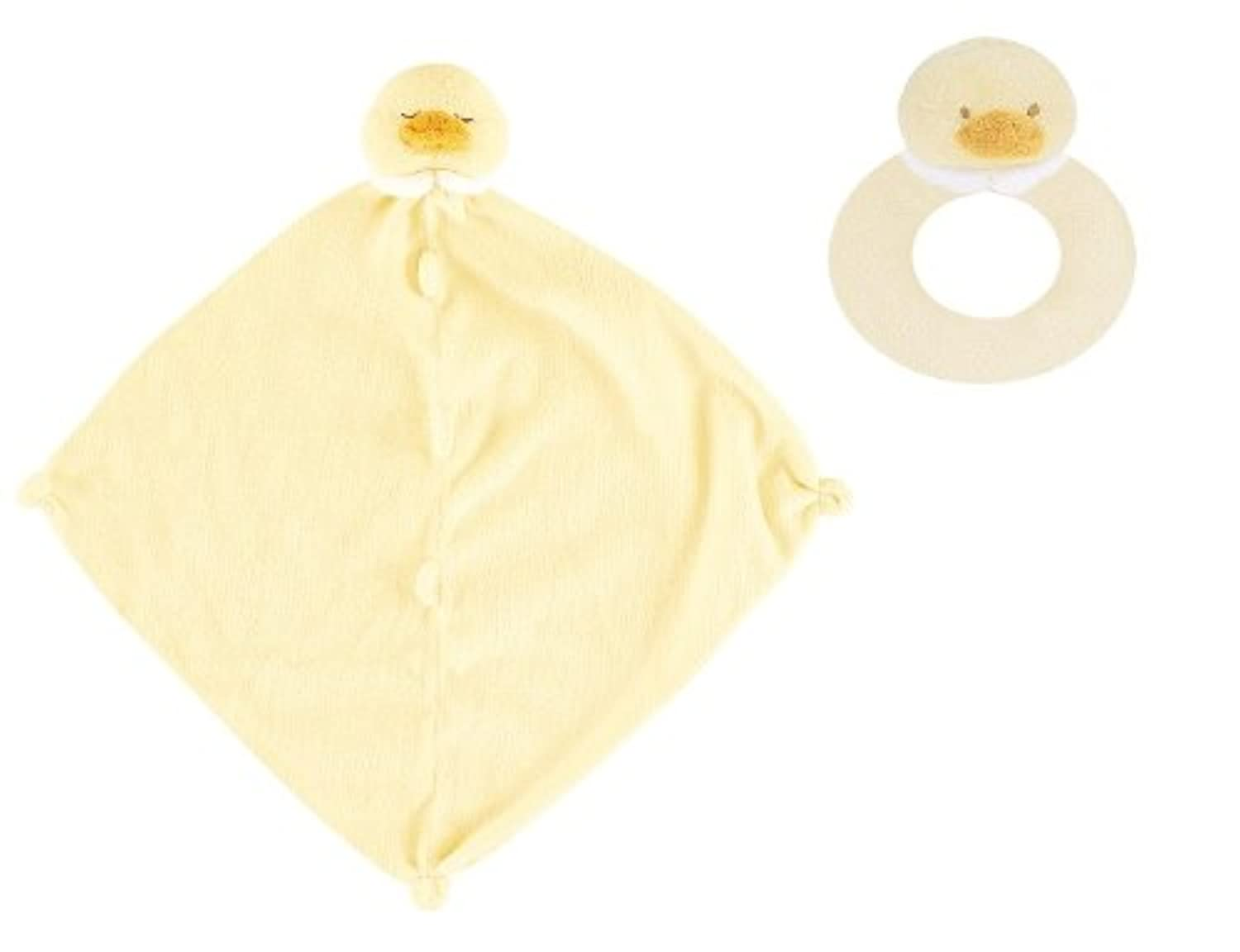 Super Soft Security Blanket with Matching Rattle Baby Gift Set : Yellow Duck by Angel Dear