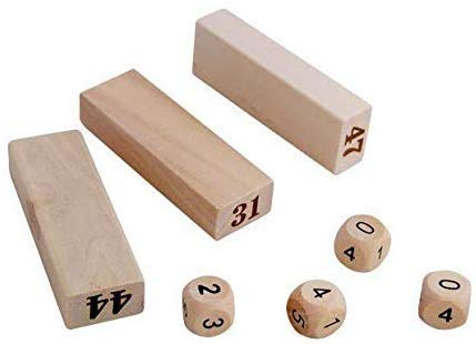 SuperLi Wooden Blocks Toppling Tower - Colored Stacking and Tumbling Timbers Tower Game (Number -48)