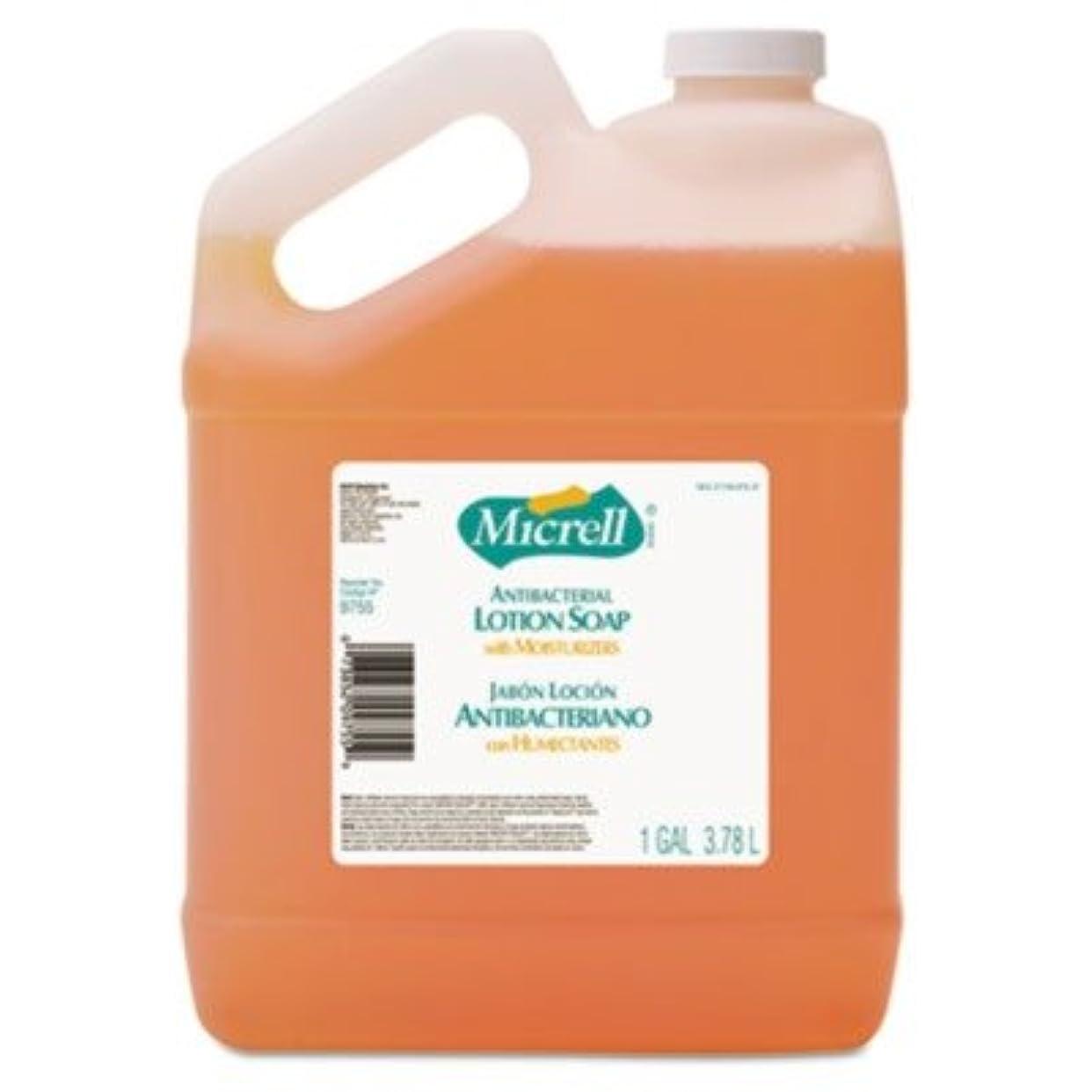 沈黙使い込む危険なgo-jo Industries 975504 CT MICRELL抗菌ローションソープ、Pleasant citrus scent , 1 galボトル、4 /カートン
