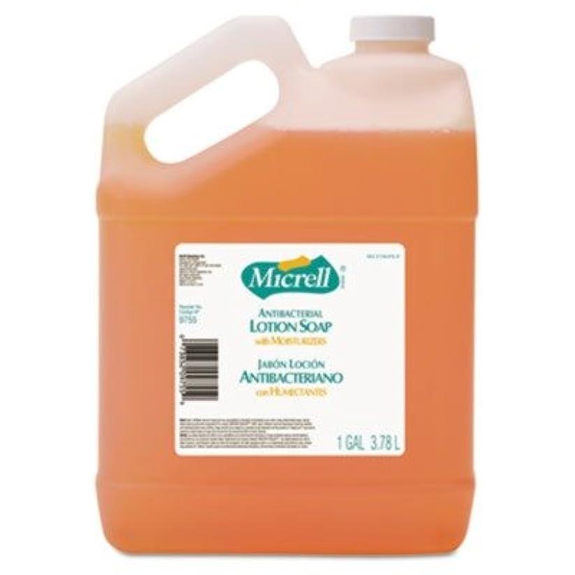 スペインビールペッカディロgo-jo Industries 975504 CT MICRELL抗菌ローションソープ、Pleasant citrus scent , 1 galボトル、4 /カートン
