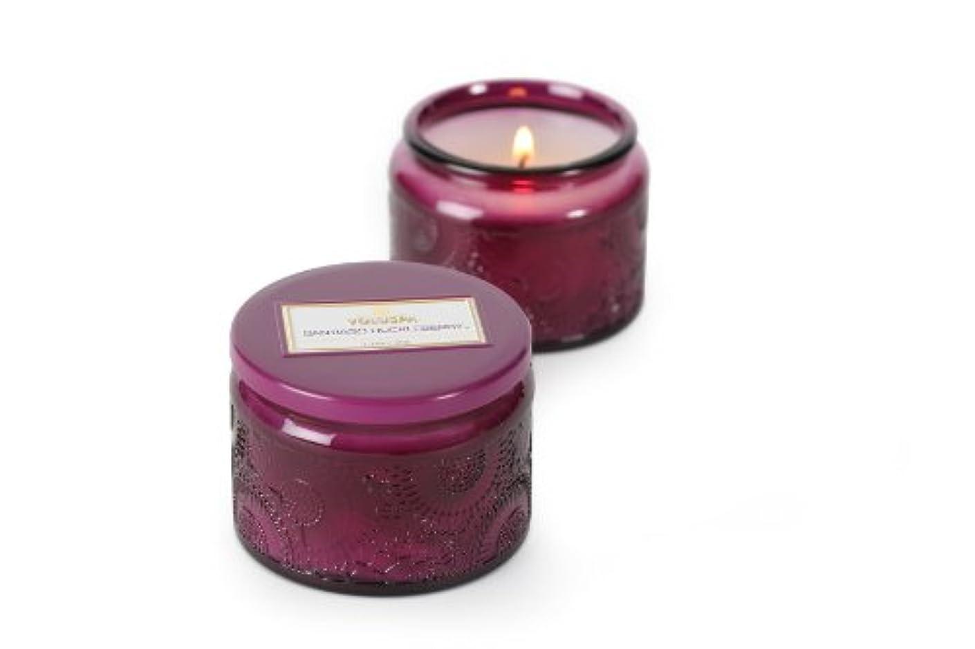 工夫する窒息させる幻影Voluspa ボルスパ ジャポニカ グラスジャーキャンドル S サンティアゴハックルベリー JAPONICA Glass jar candle SANTIAGO HUCKLEBERRY