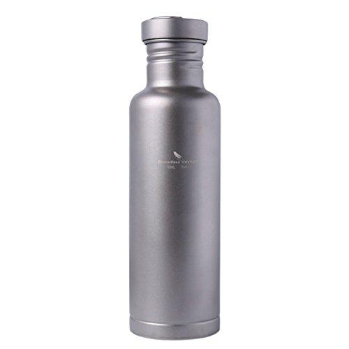 Boundless Voyage 純チタン水筒 500ml/750ml アウトドアキャンプ用ボトル 超軽量 ケース付き 錆びない Ti1507B