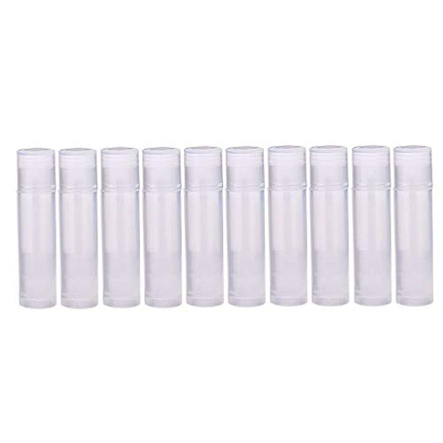 ポルティコ振り向く調和のとれた口紅容器 空 リップスティックコンテナ 10個 全7色 - クリア