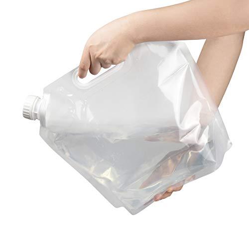 非常用給水袋,thsgrt【最新版 3個セット】防災グッズ 折り畳み キャンプ アウトドア 家庭用 ウォーターバッグ 旅行 登山 災害 避難 繰り返し使用 持ち運び便利 コンパクト 非常用給水バッグ 5L用 3個セット