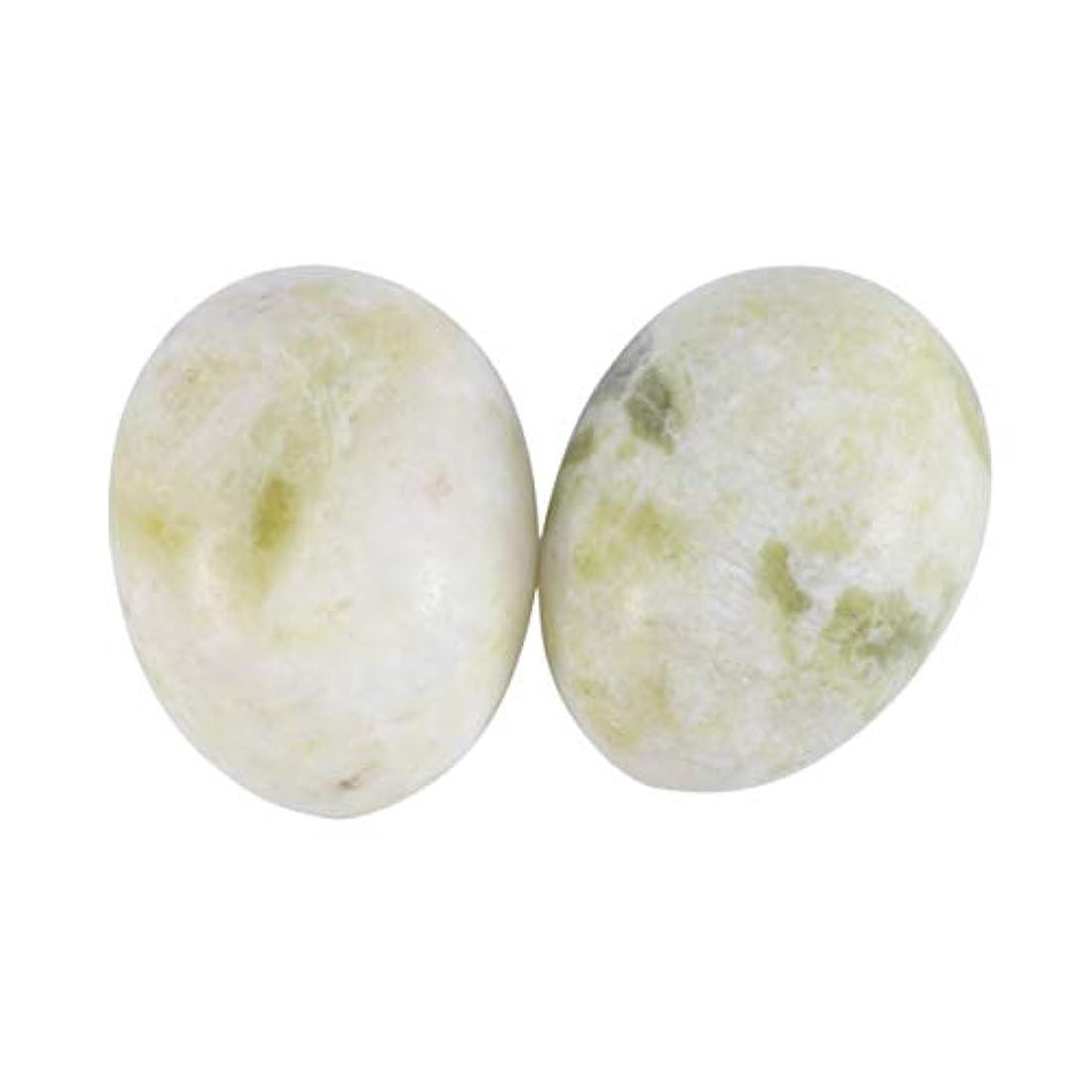 肌わかりやすい重要性SUPVOX 6本ネフライトジェイドヨニエッグジェイドヨニマッサージストーンチャクラ骨盤筋肉癒しの卵マッサージケゲルエクササイズ(Lantian Jade Egg)