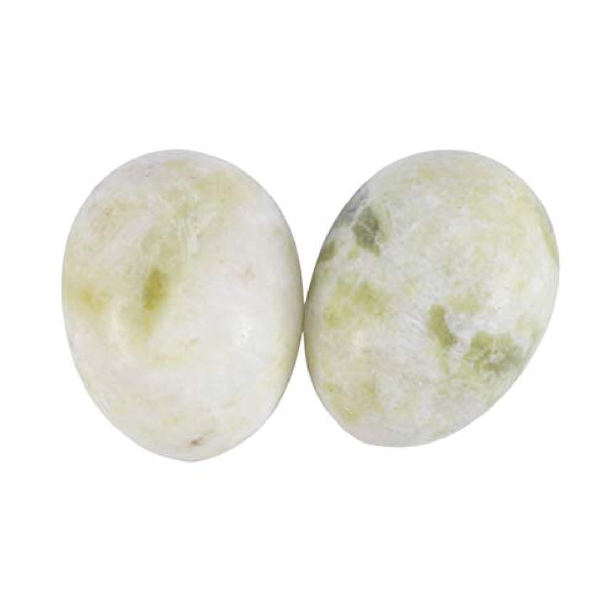 砂利放棄するインサートSUPVOX 6本ネフライトジェイドヨニエッグジェイドヨニマッサージストーンチャクラ骨盤筋肉癒しの卵マッサージケゲルエクササイズ(Lantian Jade Egg)