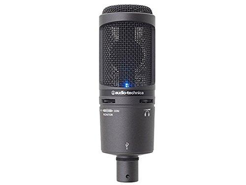 [오디오 테크니카 고음질 콘덴서 소형 마이크] audio-technica 오디오테크니카 USB 마이크로 폰 AT2020USB+-AT2020USB+