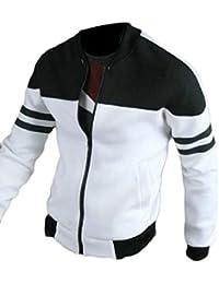 maweisong メンズフルジップフリース軽量ボンバージャケット
