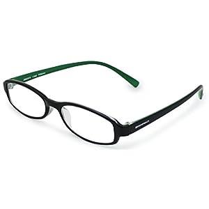 エッシェンバッハ 老眼鏡 READING MEGANE 弾性樹脂フレーム 日本製 +2.0度数 ブラック×グリーン 2994-3520