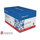 オフィス・デポ 部ライターホワイト オフィス用紙 汎用 コピー レーザー インクジェット、 8 1/2インと x 11 インチ レターサイズ、 20ポンド密度、白色度 94、中性紙、1冊パック Eig