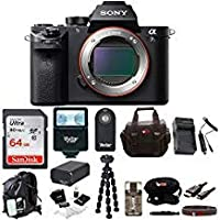 Sony Alpha a7s II 4K Wi - Fiミラーレス64GBカード+バックパック+フラッシュ+バッテリー&充電器+三脚+リモート+キット