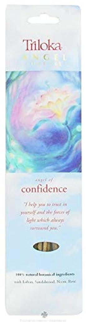 いつやめる血色の良いTriloka – Angel Incense Angel of Confidence – 10スティック( S )