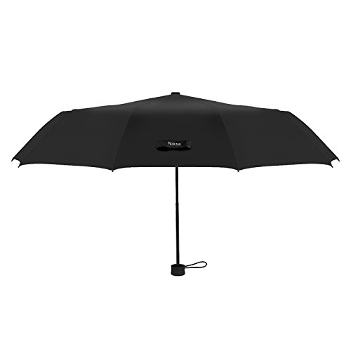 Niksa 高強度 グラスファイバー骨 10骨傘 折りたたみ傘 梅雨対策 晴雨兼用 頑丈高強度の安全傘 直径102cm 2色 直径102cm