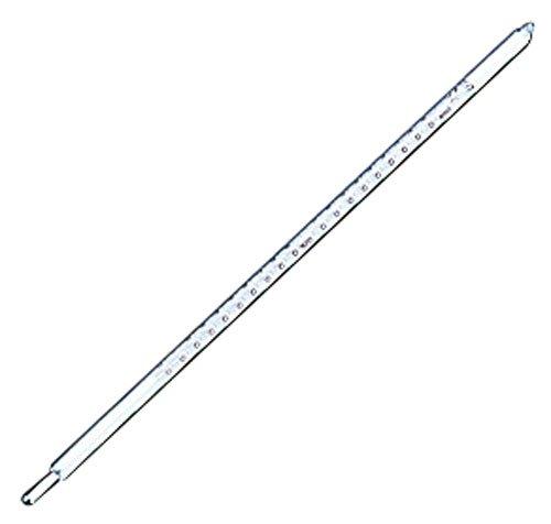 ガラス棒状温度計 水銀 0~+300度 BOV13005
