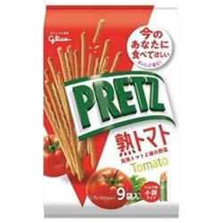 グリコ PRETZ(プリッツ)熟トマト 9袋×6袋入×(2ケース)