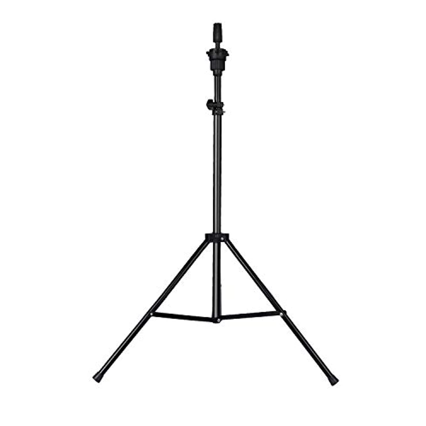 上向きスタウト多様体Training head stand model holder adjustable wig tripod hairdressing hair【Does not include the head】