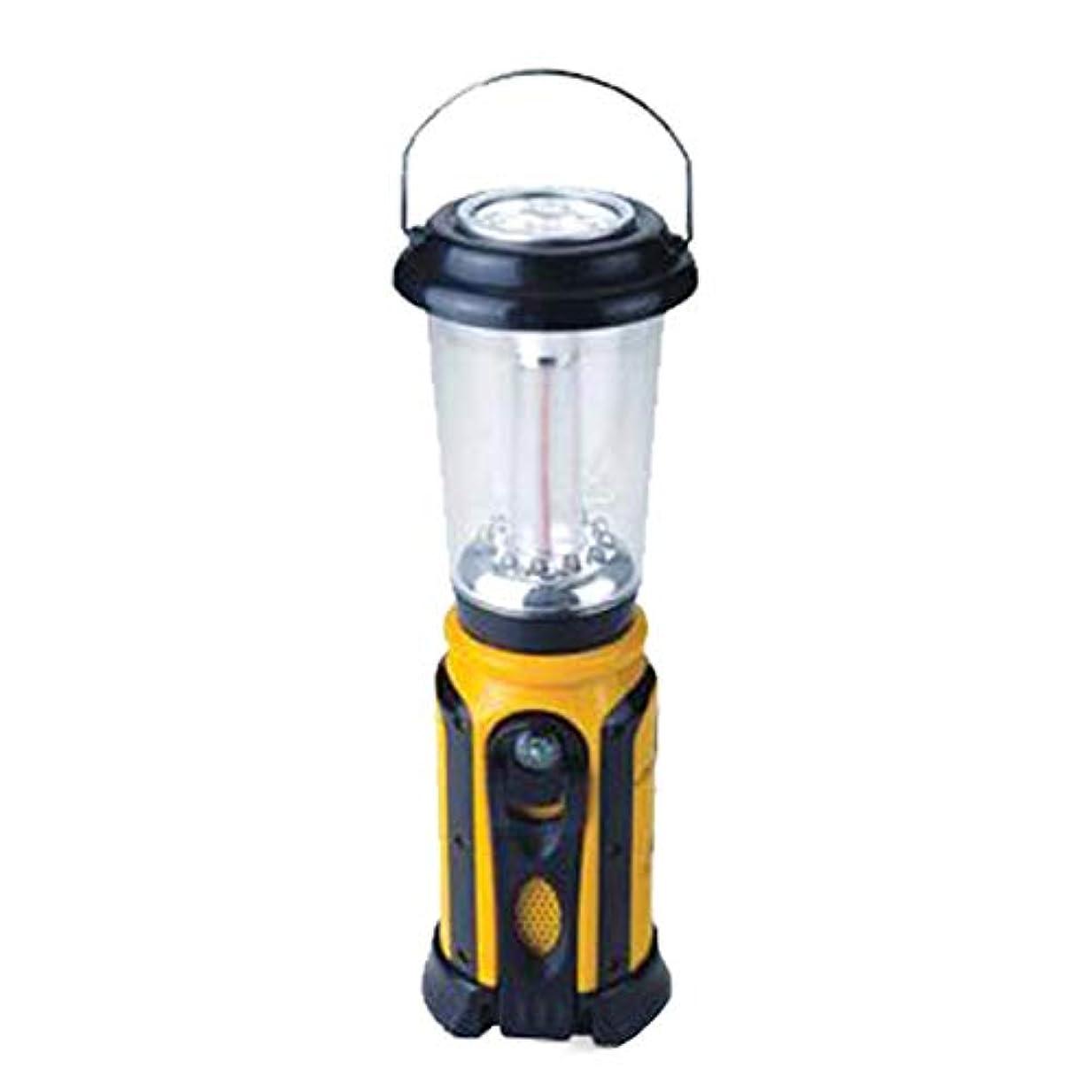 磨かれた光目を覚ます電光ホーム マルチランタン 電池不要(携帯充電機能付き)ラジオ、サイレン、虫よけ、コンパスなど防災に役立つ多機能ライト