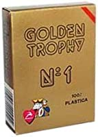 ModianoイタリアPoker Game Playing Cards – Red Golden Trophy 2インデックス – シングルカードデッキ – 100 %プラスチックイタリア製