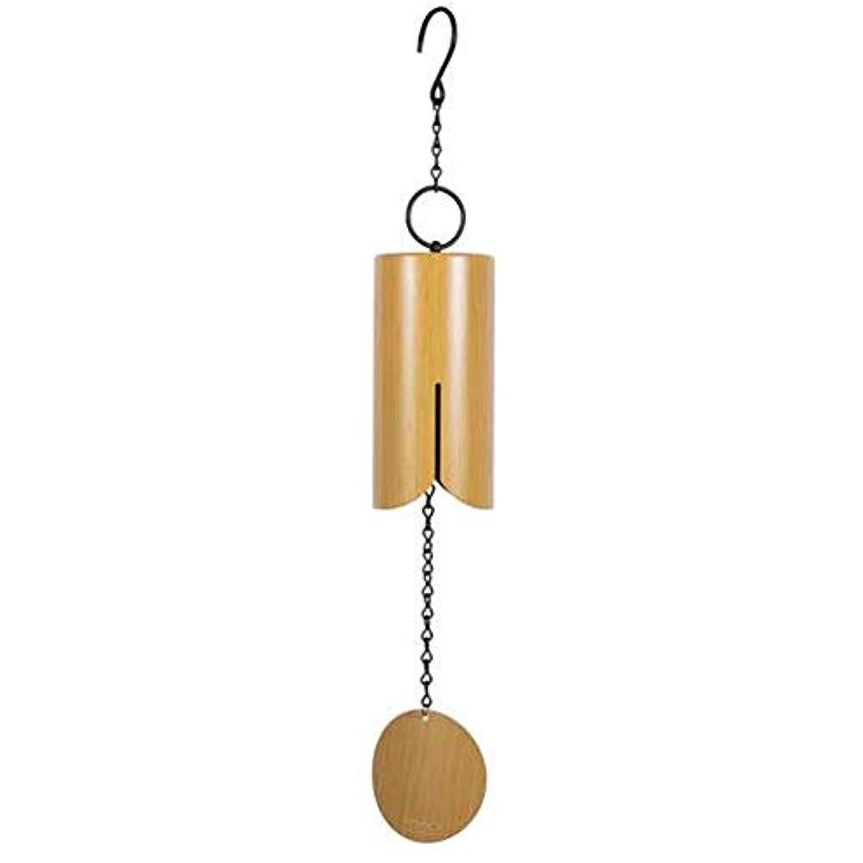 振り向く熟した時期尚早Hongyuantongxun 風チャイム、アイアンレトロクリエイティブ風の鐘、ブラック、全身について76センチメートル,、装飾品ペンダント (Color : Natural)
