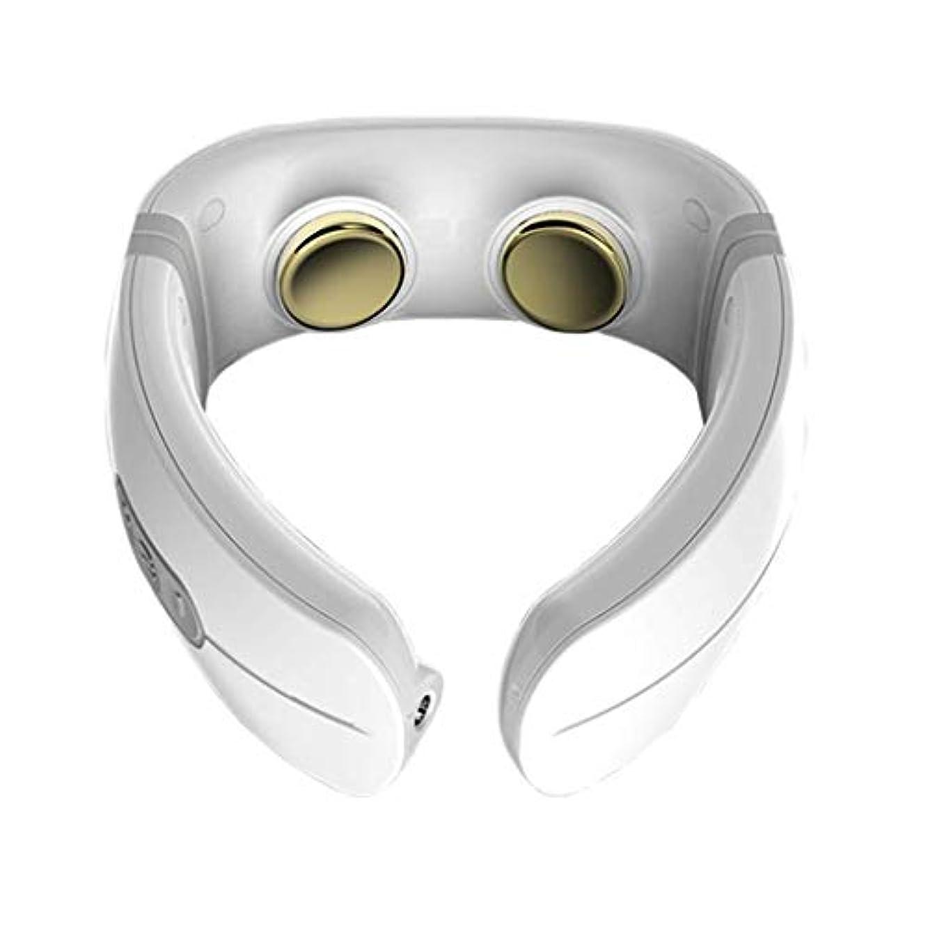 肩と首のマッサージャー、ポータブルマッサージャー、電気刺激加熱設定、指圧振動深練り、筋肉の弛緩、痛みの緩和、オフィスファミリーカー旅行に使用