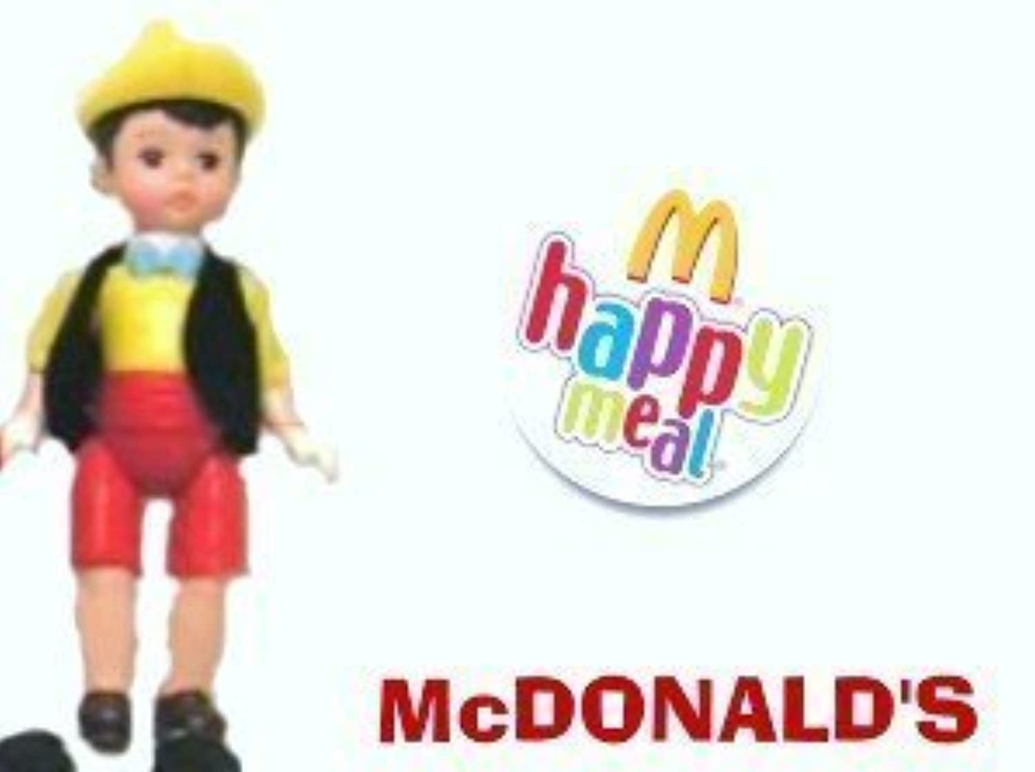 McDonalds Happy Meal Madame Alexander Pinocchio Boy Doll Toy #6 2004 [並行輸入品]