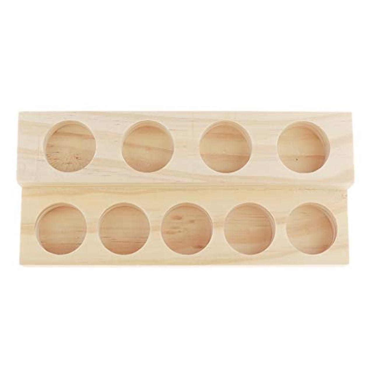 かどうか持ってる受け入れるエッセンシャルオイル 香水 精油 ディスプレイ ホルダー 陳列 コレクション 木製