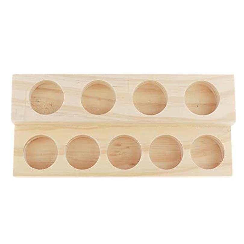 生息地ジョリーバーベキューエッセンシャルオイル 香水 精油 ディスプレイ ホルダー 陳列 コレクション 木製