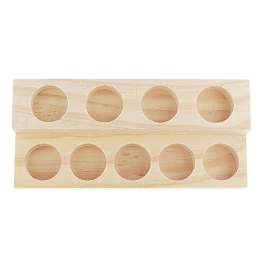 ヒステリック世代請うP Prettyia エッセンシャルオイル 香水 精油 ディスプレイ ホルダー 陳列 コレクション 木製