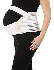 通気性マタニティベルト妊娠腹部サポート腹部バインダーガードル運動包帯産後の回復shapewear - ホワイトL