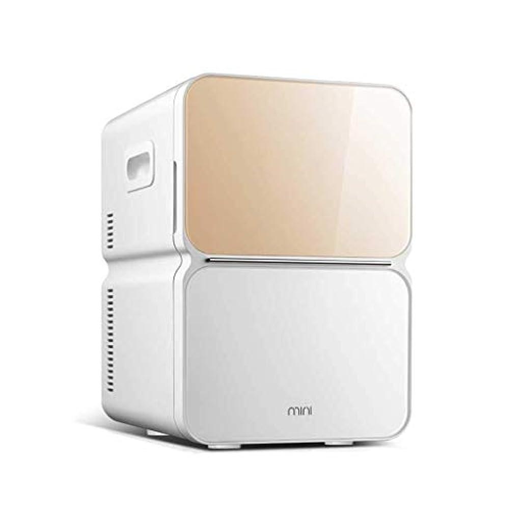 保険をかけるブラウン気晴らしポータブル 22Lカーミニ冷蔵庫シングルコスメティック小型冷蔵庫 絶妙な (Color : Gold, Size : B)