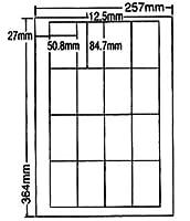 LEW16S-2 OAラベル ナナワード (50.8×84.7mm 16面付け B4判) 2梱(レーザー、インクジェットプリンタ用。上質紙ラベル)マルチタイプ