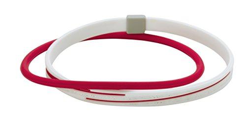 アンクレットS スラッシュラメ ホワイト/レッド 21cm 1個 ファイテン