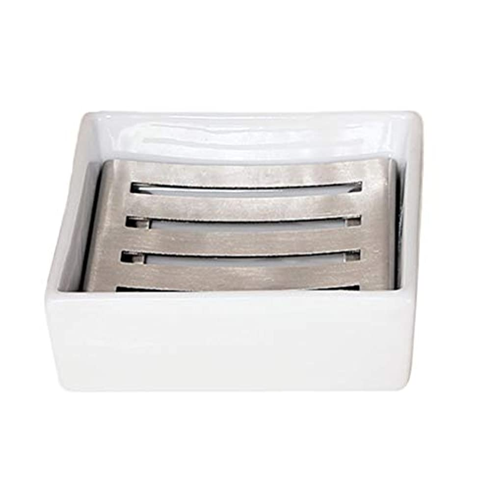 上流の場合電圧TOPBATHY セラミックソープディッシュシャワーソープトレイ付きドレンソープセーバーソープホルダー水切り用シャワーバスルームキッチン