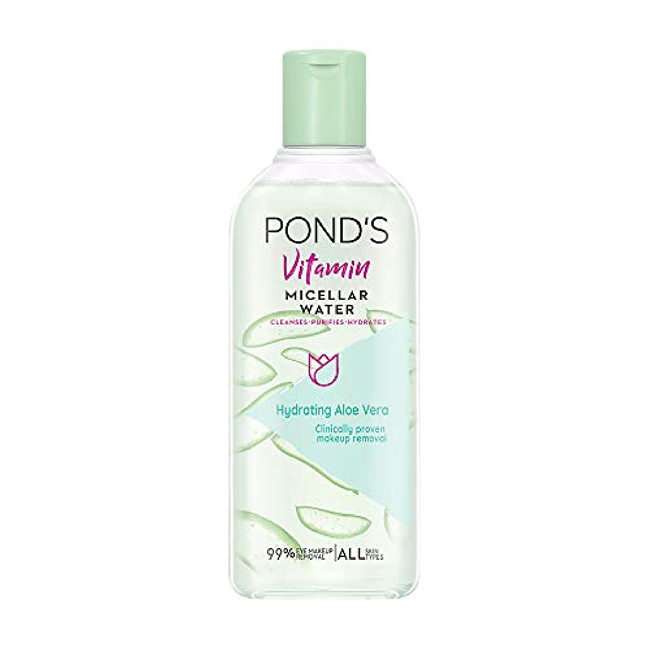 比類のない幅地下室Pond's Vitamin Micellar Water Hydrating Aloe Vera, 250 ml