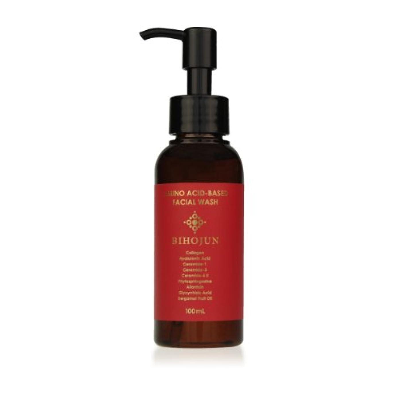意図的適応追い越す美泡潤アミノフェイシャルウォッシュ100ml<3大保湿成分を補いながら洗う! 肌に優しいアミノ酸系洗顔ジェル>