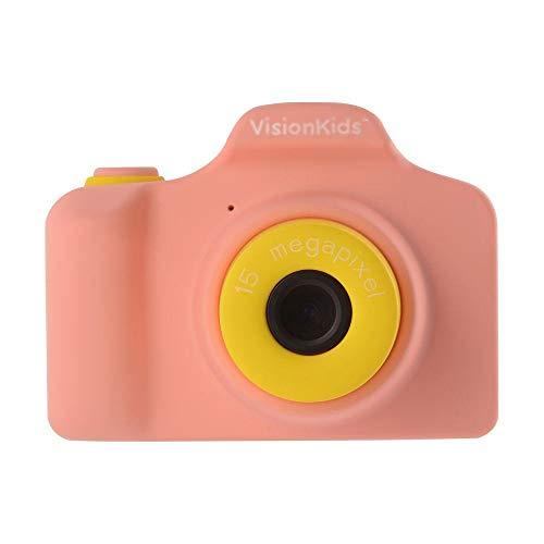 VisionKids HappiCAMU ハピカム ピンク 高性能トイカメラ【日本正規代理店】1500万画素 ビデオ タイマー撮影 フレーム 子供用 プレゼントJP032