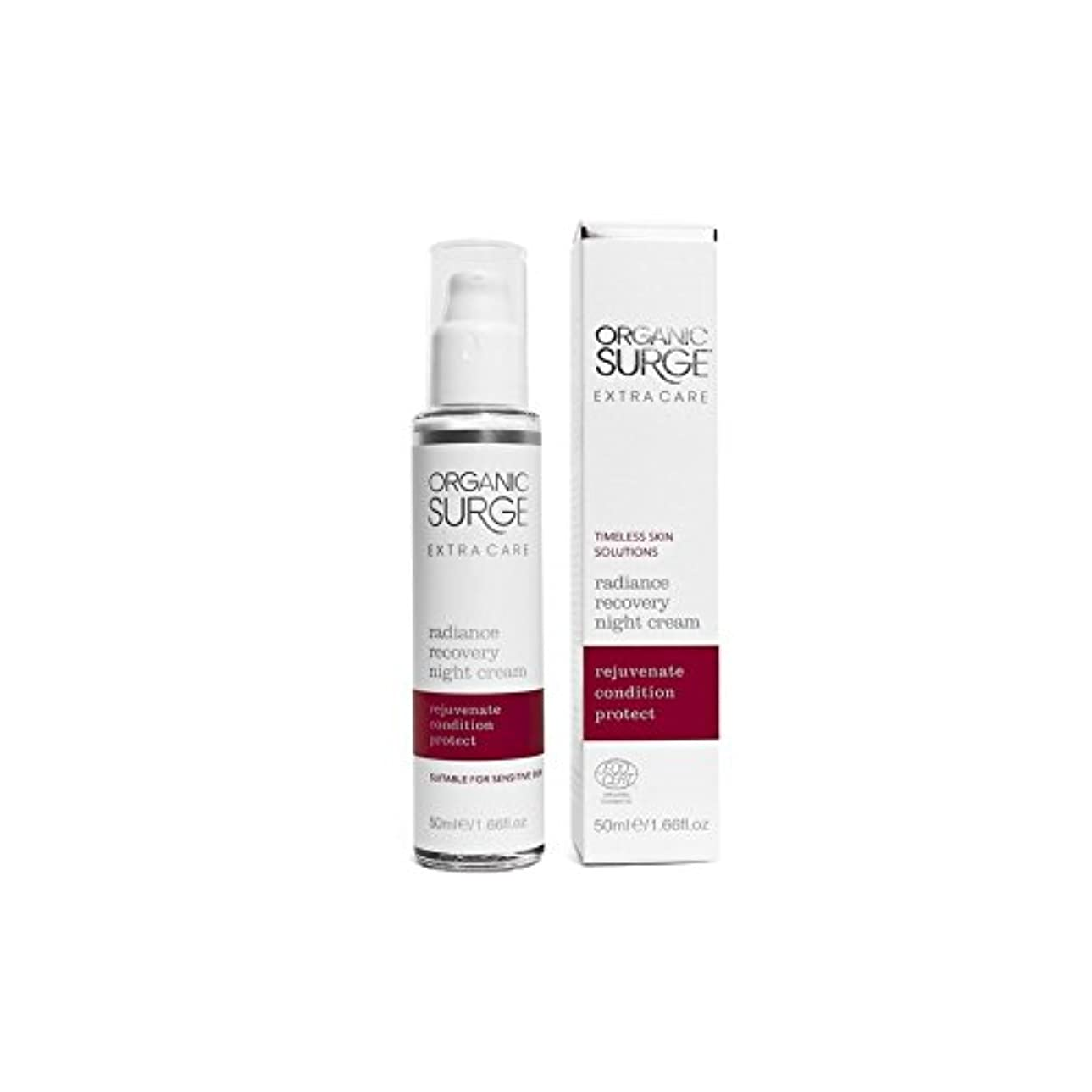 抵抗する狂信者本土Organic Surge Extra Care Radiance Recovery Night Cream (50ml) (Pack of 6) - 有機サージエクストラケア輝き回復ナイトクリーム(50ミリリットル)...