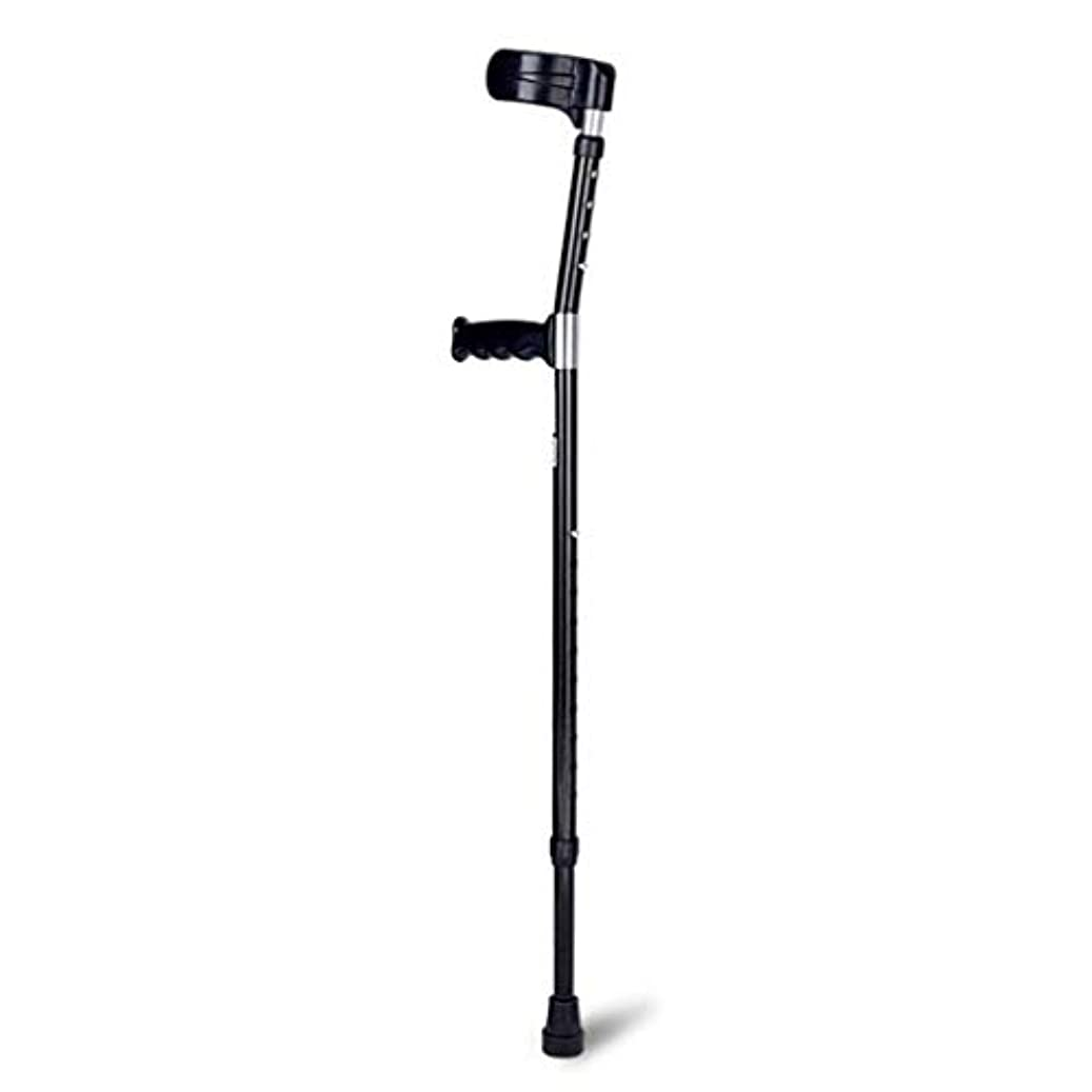 ペインギリックレッスン拮抗するオープンカフ タイプ クラッチ 杖 歩行補助 軽量 アルミ 介護 リハビリ 上部と下部 伸縮 医療軽量肘松葉杖 脇の下ウォーカー