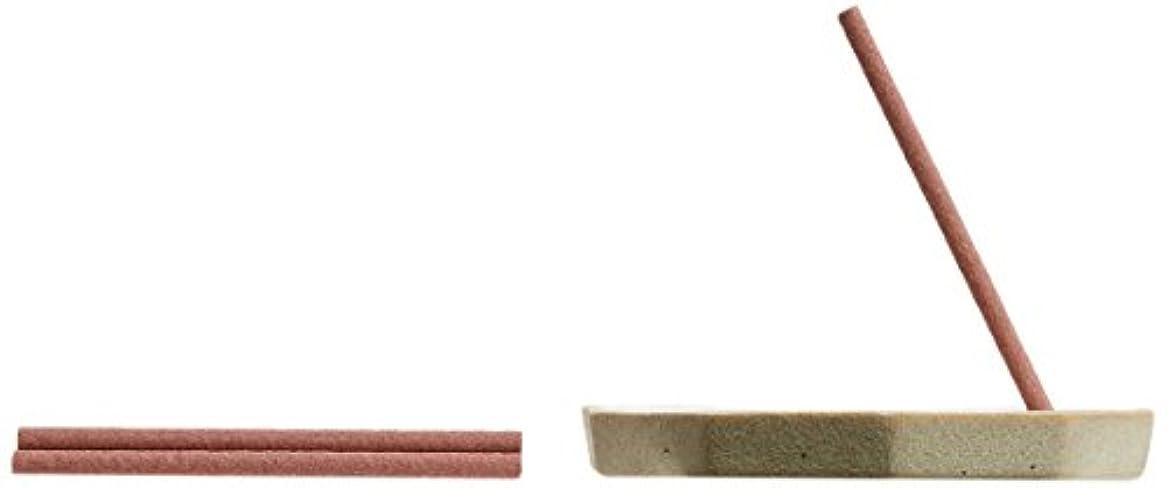 わかる回転するブルーム野山からのおふくわけ わびすけの薫り スティック6本入&香皿
