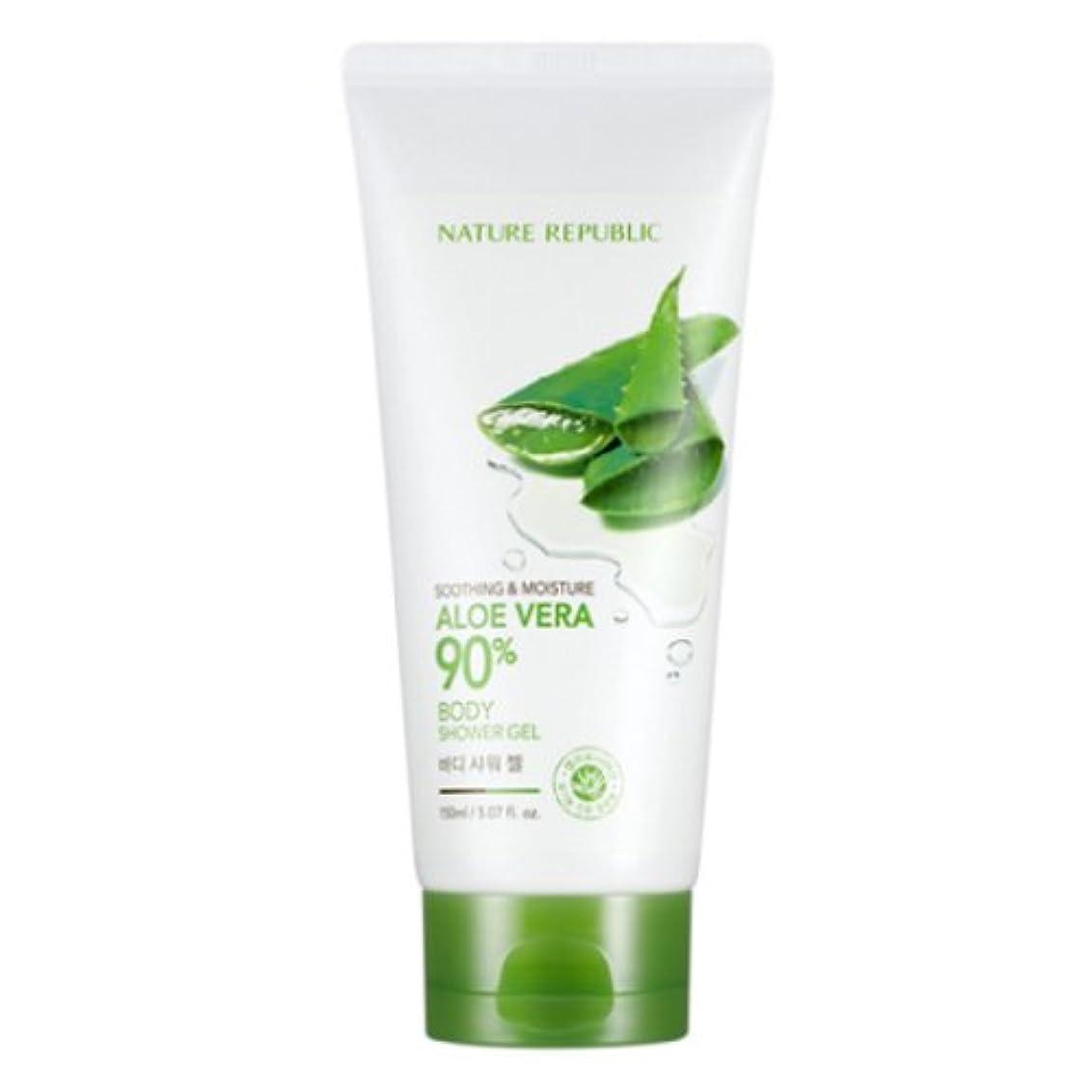 観客対人契約した[ネイチャーリパブリック] Nature republicスージングアンドモイスチャーアロエベラ90%ボディシャワージェル海外直送品(Soothing And Moisture Aloe Vera90%Body Shower...