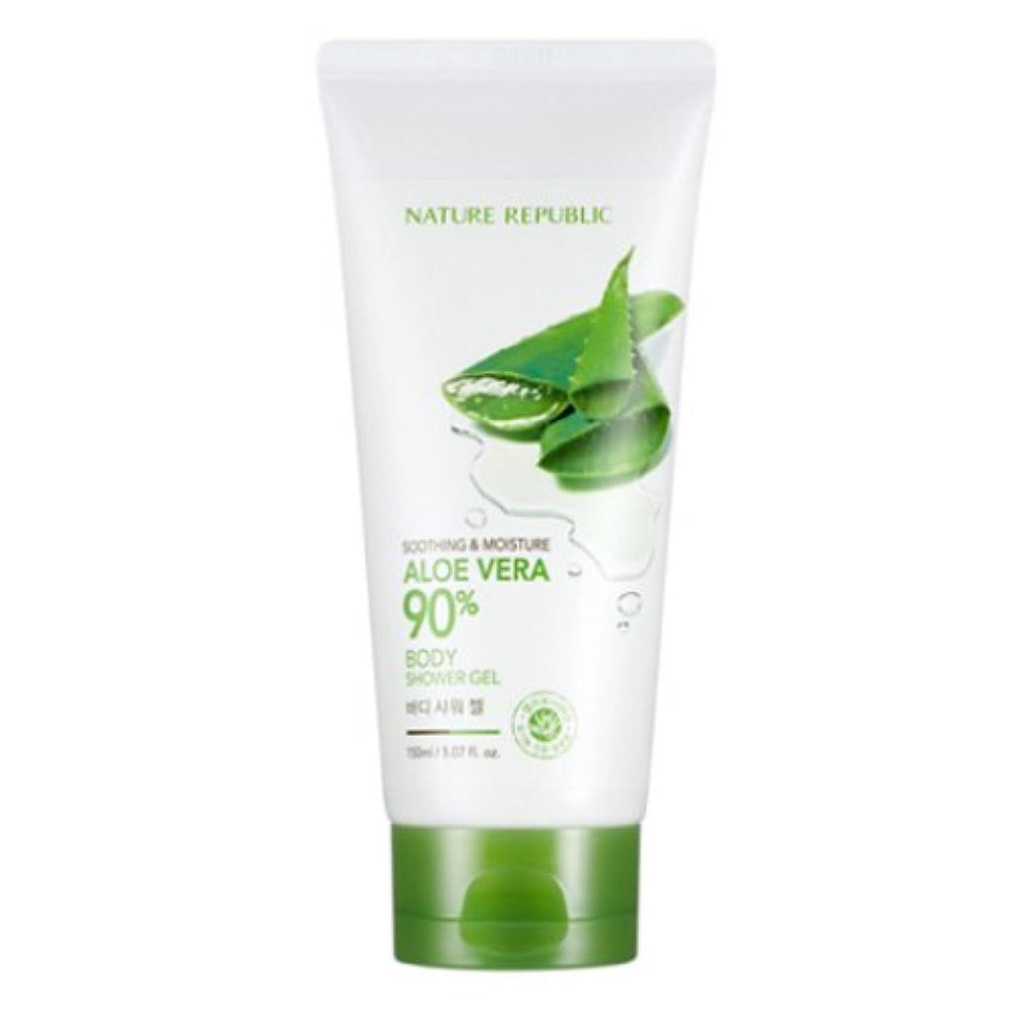 ジャンプ味わう牧草地[ネイチャーリパブリック] Nature republicスージングアンドモイスチャーアロエベラ90%ボディシャワージェル海外直送品(Soothing And Moisture Aloe Vera90%Body Shower...