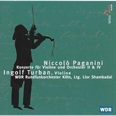 輸入盤 トゥルバン(Vn)、シャンバダル指揮/WDRケルン パガニーニ:ヴァイオリン協奏曲第2番&第4番のAmazonの商品頁を開く