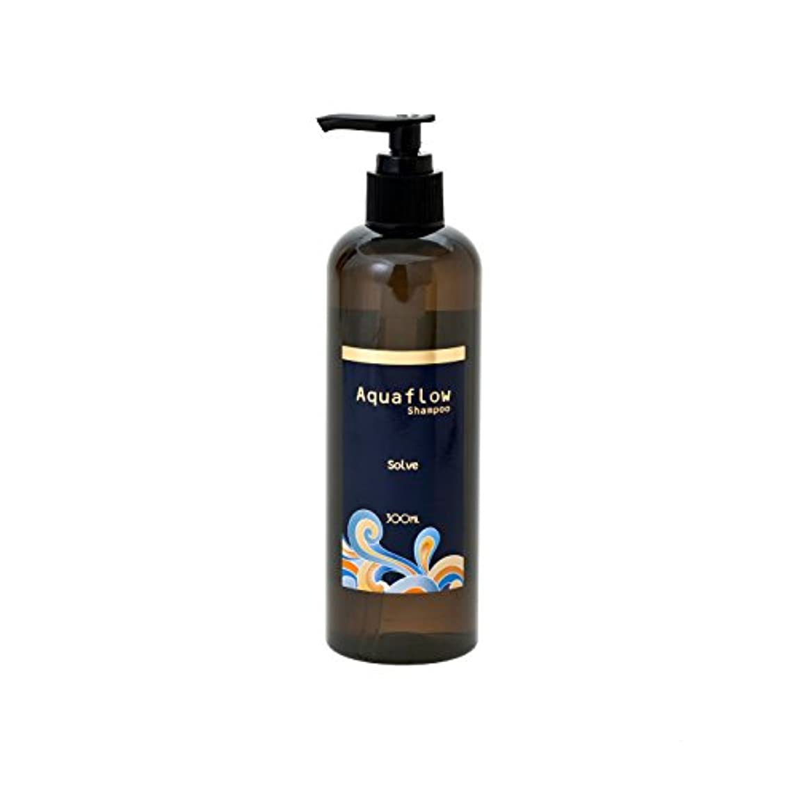 水簡単に空港縮毛矯正した髪?カラーの繰り返しで大きくダメージした髪用シャンプーAquaflow「栄養そのもので洗うsolve」ソルブシャンプー アクアフロー 300mlサイズ