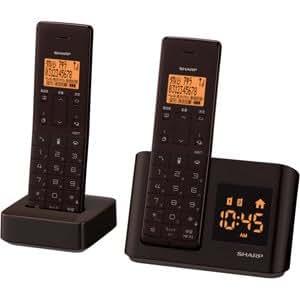 シャープ デジタルコードレス電話機 子機1台付き 1.9GHz DECT準拠方式 ダークブラウン JD-BC1CW-T