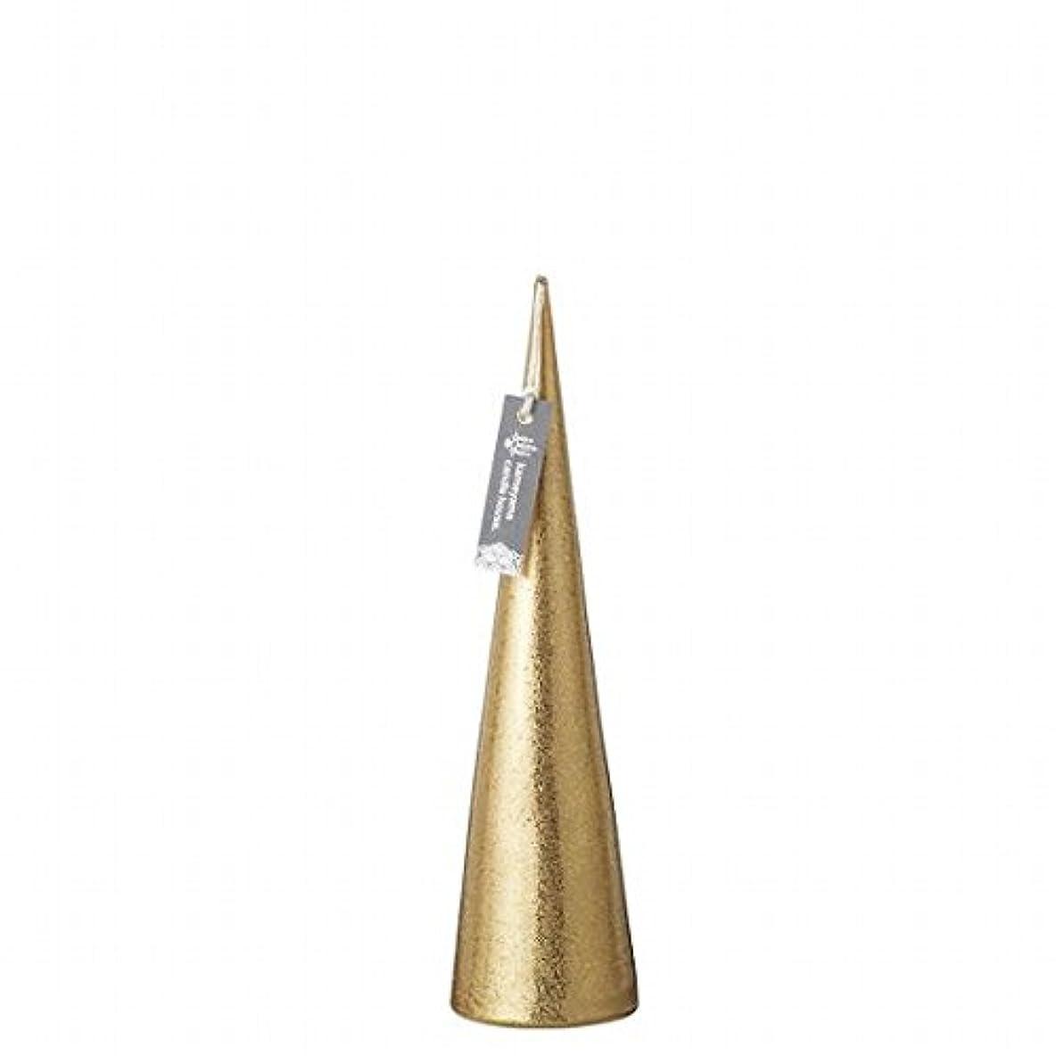 引き潮分泌する色合いカメヤマキャンドル(kameyama candle) メタリックコーンM「 ゴールド 」
