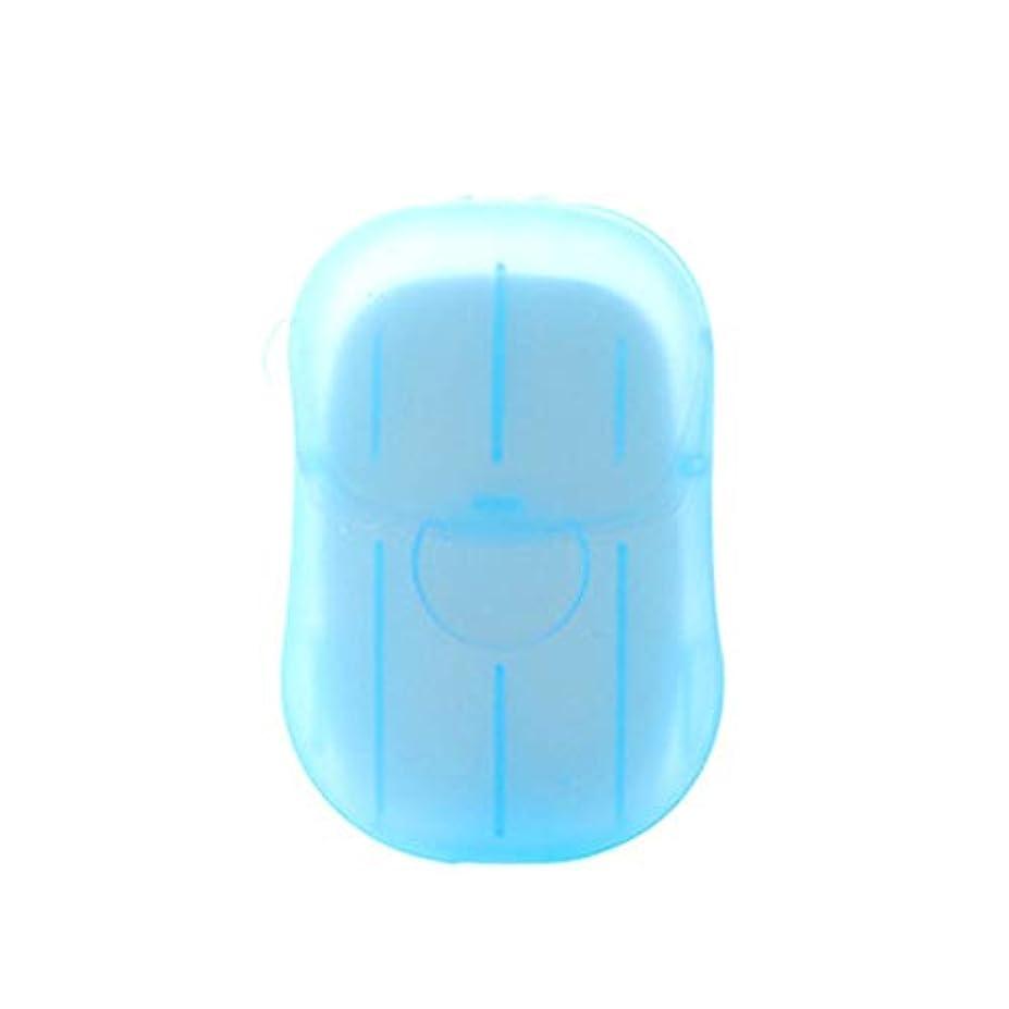 スラム座る断線Galapara 紙石鹸 使い捨て石鹸ケース 20枚石鹸ペーパー香料入り 旅行用品